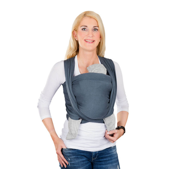Hoppediz Baby Wrap Sling Ultra Light Hamburg Stone