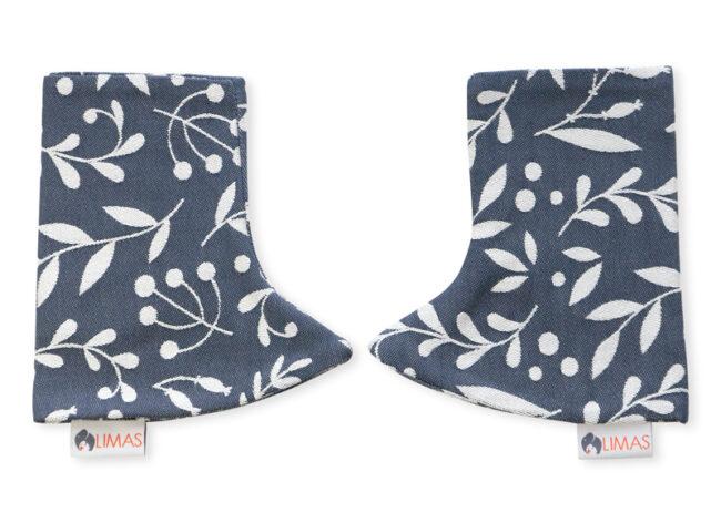 Drool Pads Flora Cool Grey