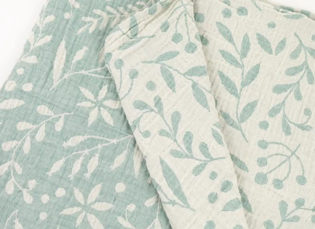 LIMAS Muslin Cloth Flora Mint